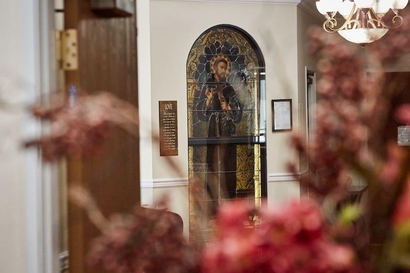 dayspring villa entrance to chapel